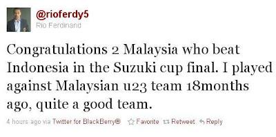 Rio Ferdinand Ucap Tahniah Kepada Skuad Bola Sepak Kebangsaan (Harimau Malaya)