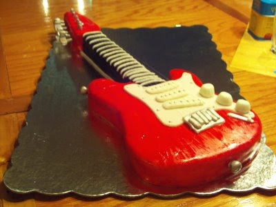 birthday cake recipes Guitar Birthday Cake