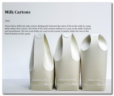milk cartons by raw edges