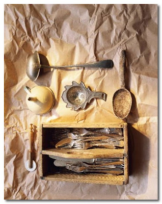 vintage cutlery display