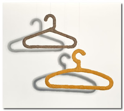felt covered coat hangers