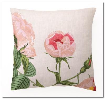 Pink Cabbage Rose Pillow flutter clutter
