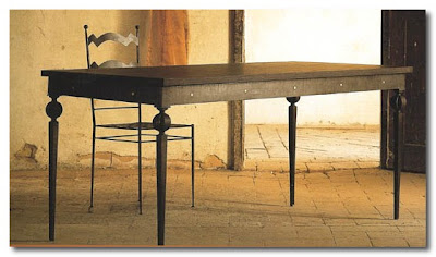 wrought iron table and chair by Brindisiamo italy