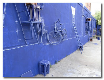 Blueprint Art Installation