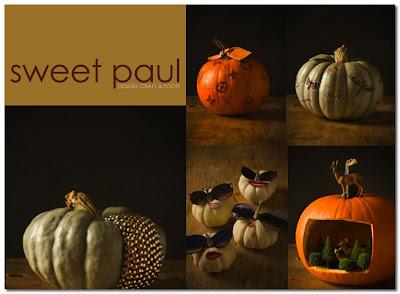 designer pumpkins by sweet paul