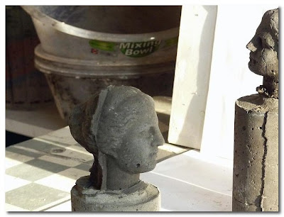 kathy dalwoods concrete roman figures