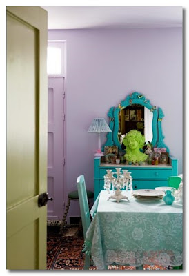 brightly coloured interiors