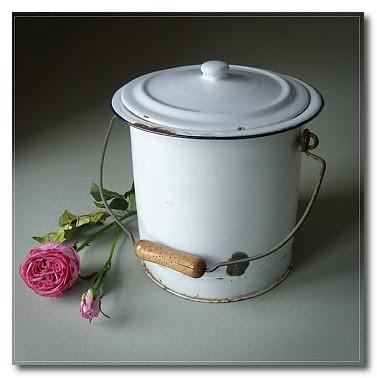 vintage enamel flower bin mabel and rose