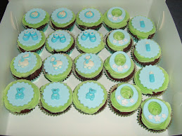 boy's baby shower cupcakes