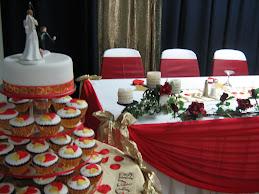 lisa & stevens wedding(red/gold)