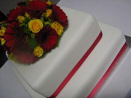 2 teir weddding cake