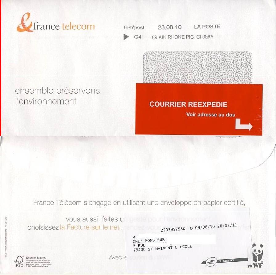 Histoire postale d 39 ici et d 39 ailleurs 112 demenagement for Reexpedition du courrier temporaire
