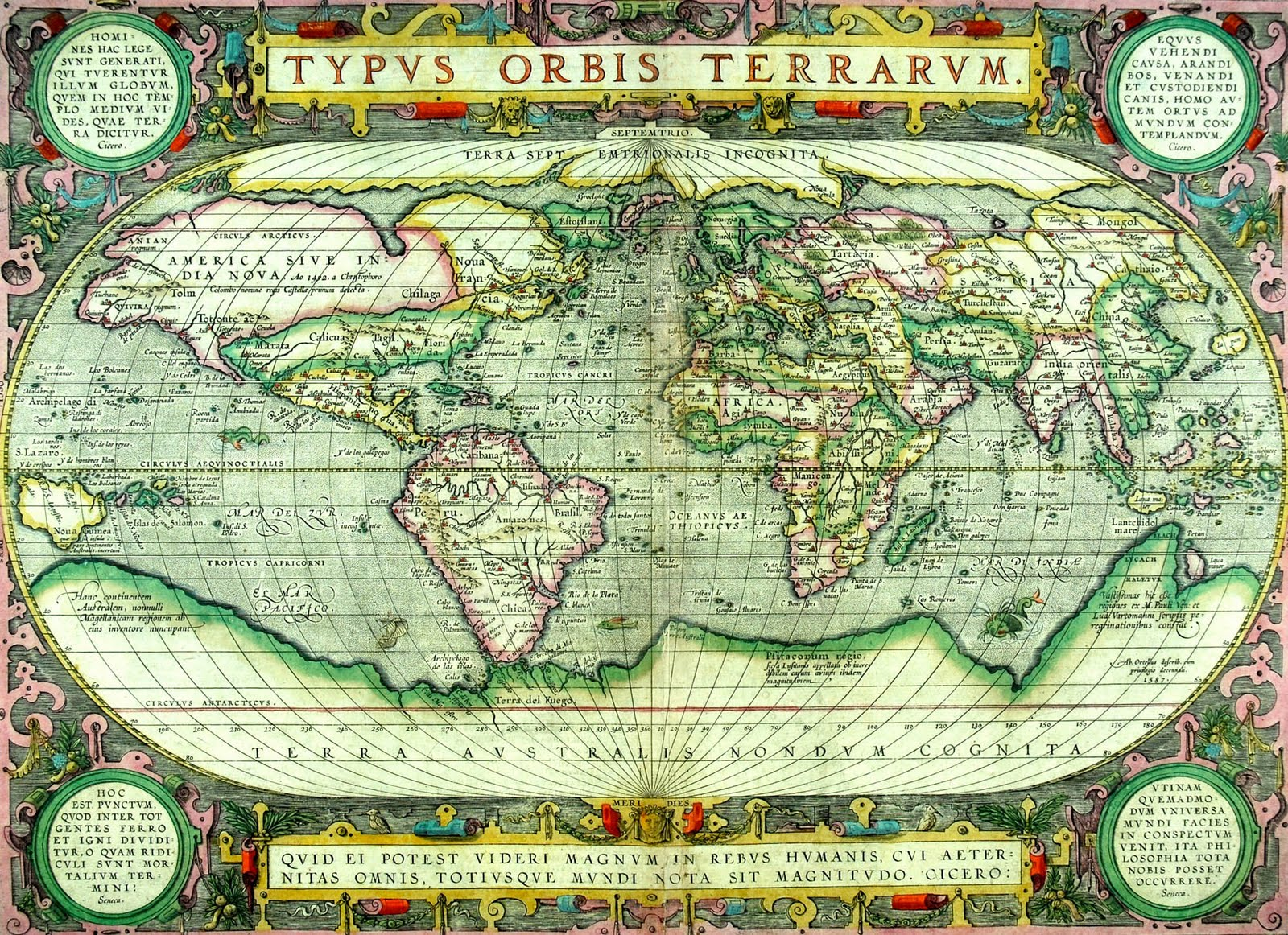 Theatrum Orbis Terrarum contains 53 maps First