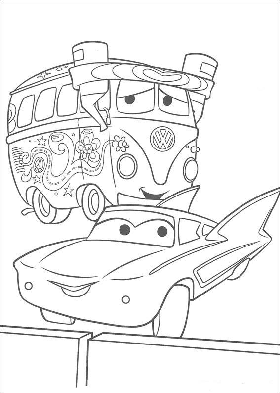 Personajes cars para colorear