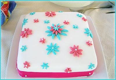 Birthday Flower Cake on Jeneze Cake Design  Square Floral Birthday Cake