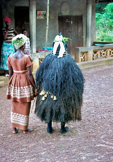Bundu Devil with attendant - Dama Rd - Kenema