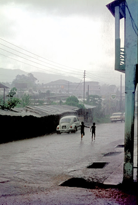 rainstorm - Kingsway St - downtown Kenema