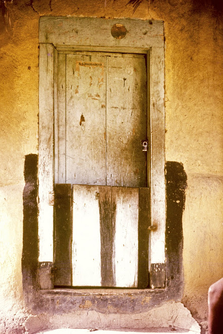 Doorway at Foindu Nongowa(Note: B.S. Massaquoi political poster remnant