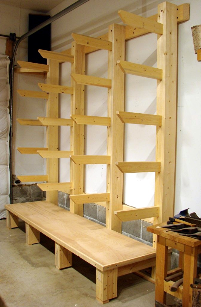 It's the long overdue, long planned, new shop wood rack - and it is ...