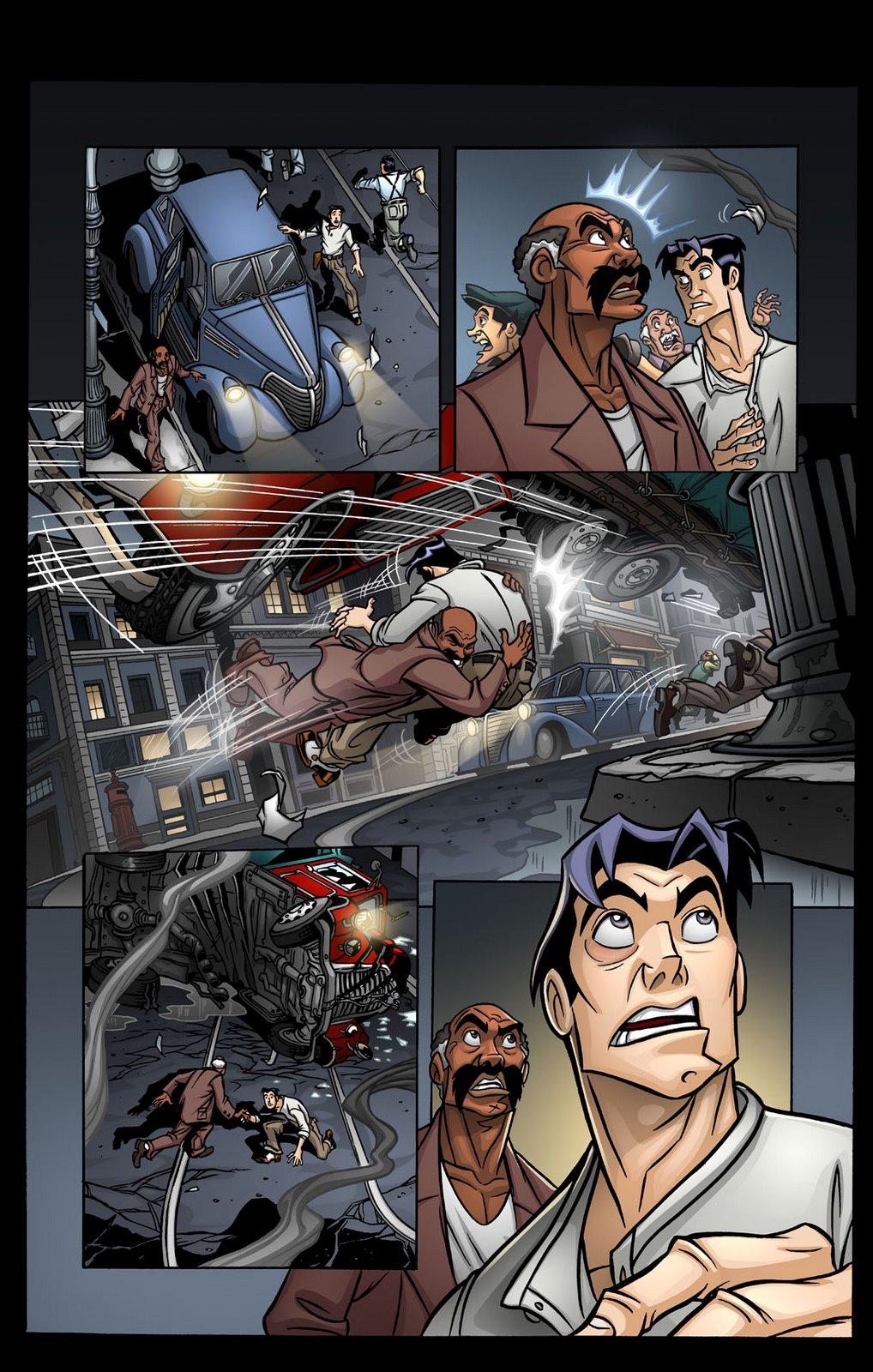Coloreados en paginas de Comics.