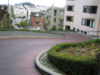 Lombard Street, the world's crookedest street, used to be straight