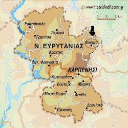 Χάρτης Ευρυτανίας
