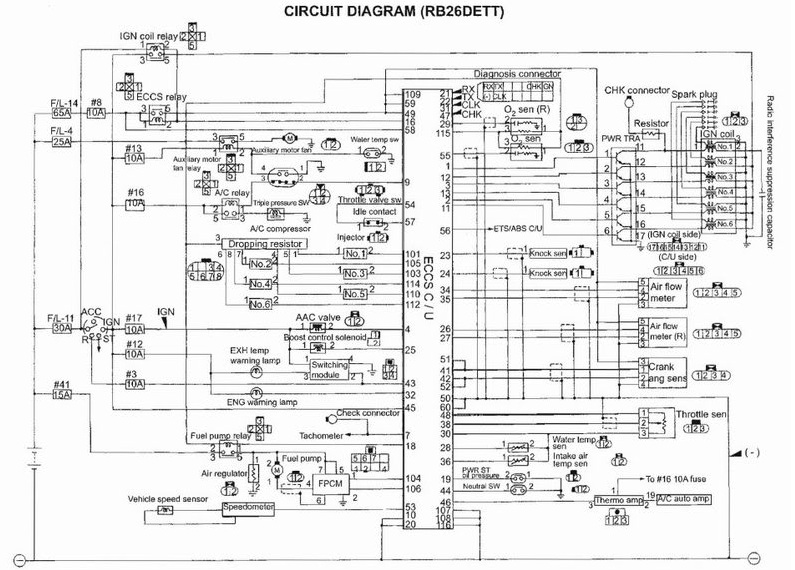 RB26DETT+Wiring+Diagram nissan r32 wiring diagram nissan wiring diagrams instruction rb20 wiring diagram for ignition at mr168.co