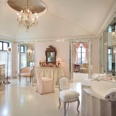 Graceful Pink Bathroom Interior Design, Decoration and Furniture
