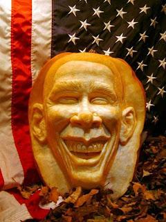 obama jack o'lantern pumpkin