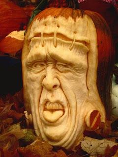 frankenstein jack o'lantern pumpkin