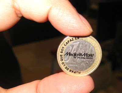 pegatina monedas 1 euro Media Makt