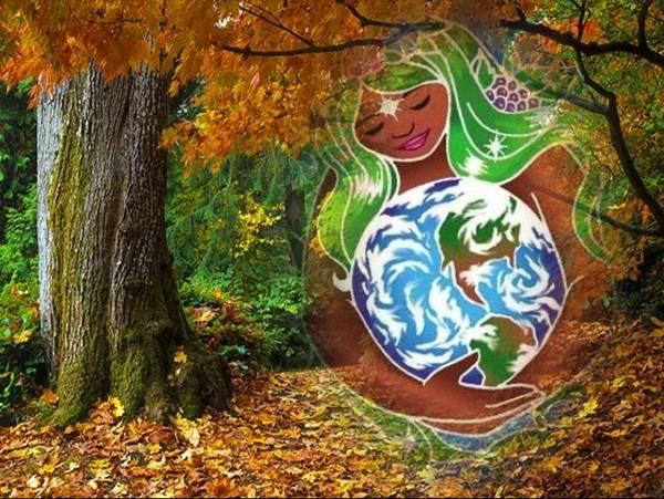 Todas as mães unidas junto com a Mãe Terra!