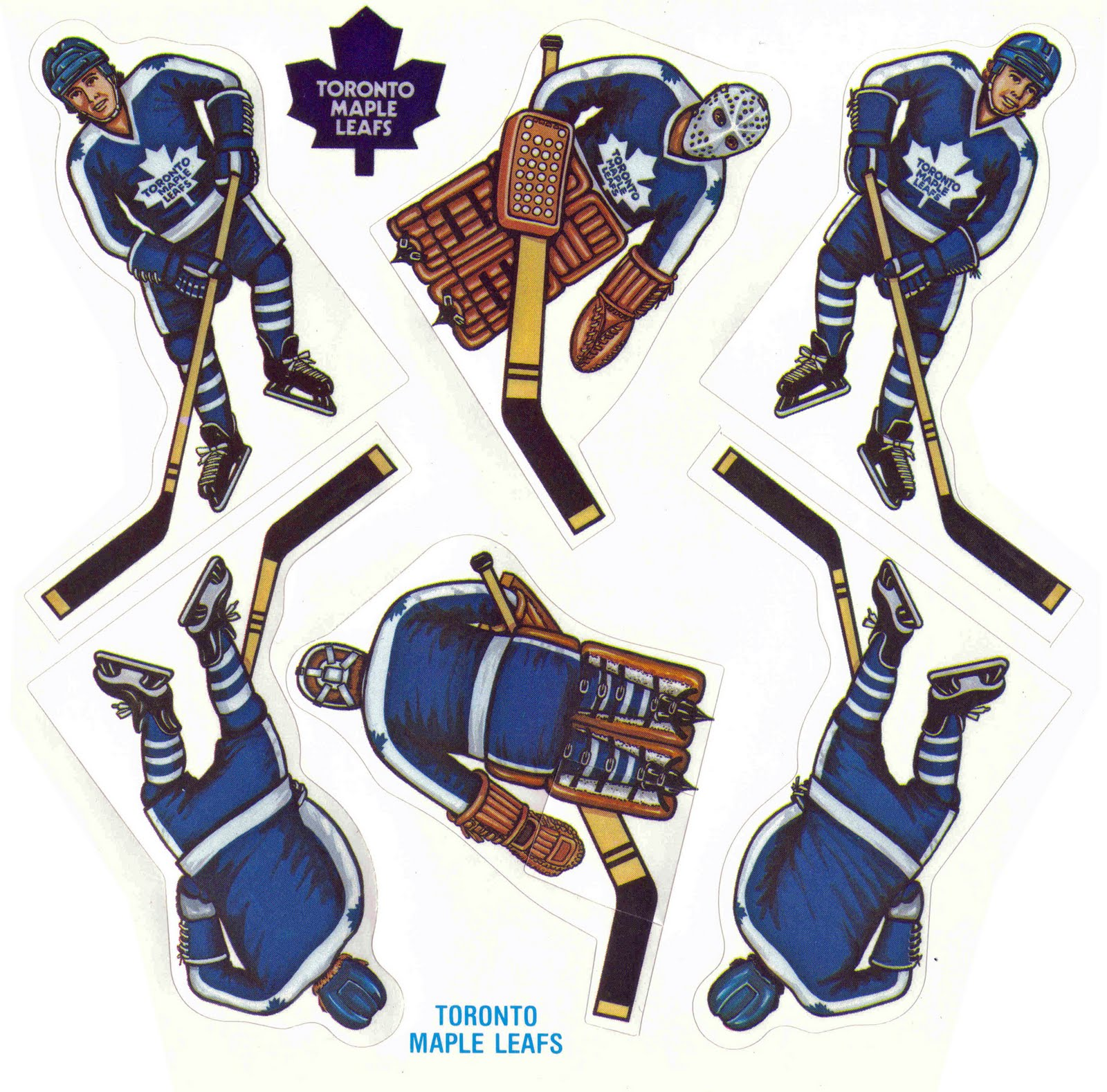 Vintage table hockey - Coleco Printable Table Top Rod Hockey Players Part 5 The All Important Toronto Maple Leafs