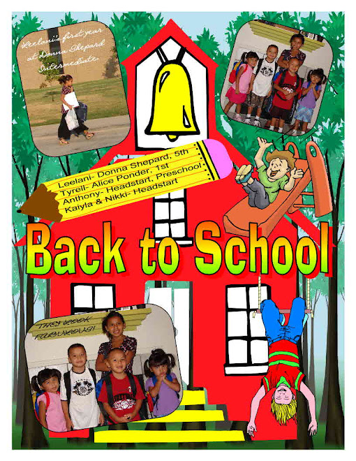 Back to school for Leelani and Tyrell.