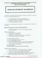 Guide de l'etudiant en medecine page 1