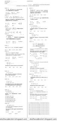 lise 2 matematik 1.dönem 3.yazılı soruları