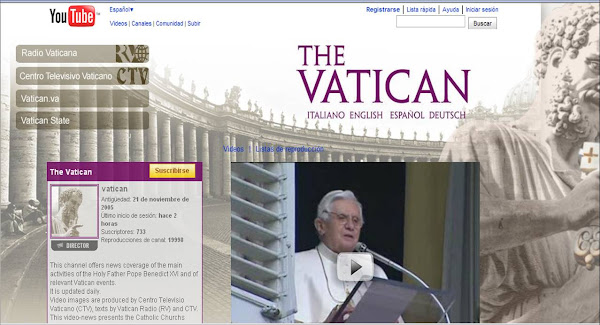 TV del Vaticano en YouTube