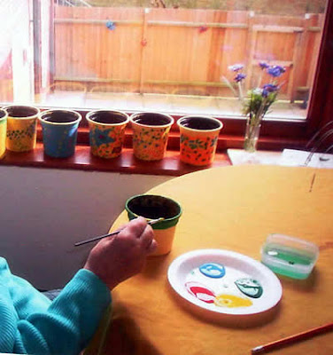 Painting Images on Flower Pot Painting Also A Winner And I Took The Pots Round To Every
