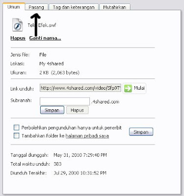 upload gratis file SWF
