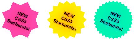 efek bintang css3 starbursts css3
