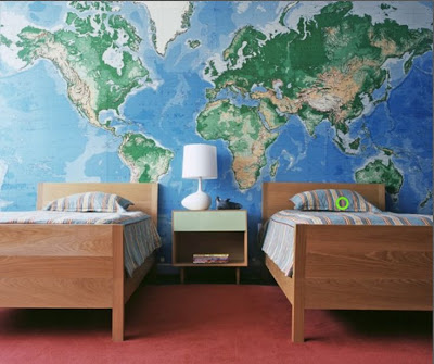 Chek world map feature wall i would love to do a wall like this any ideas where i can get such a huge map is it a wallpaper gumiabroncs Choice Image