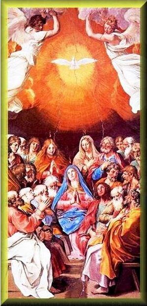 Silazak Duha Svetoga nad: Mariju i Apostole