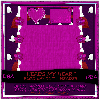http://designsbyali.blogspot.com/2009/07/heres-my-heart-blog-layout-free-for-24.html