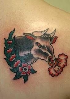Bull tattoo design galllery
