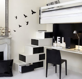 Black white Home Interior Design