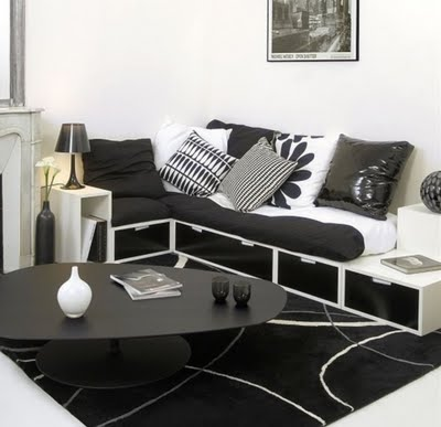Top Interior Designers: Black white Home Interior Design