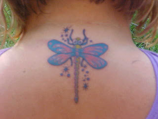 dragonfly tattoo back girl