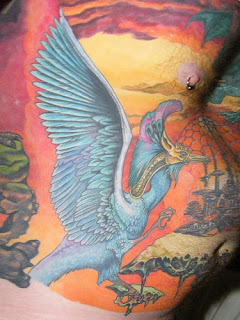 ostrich tattoo art for body