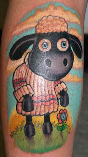 animal sheep tattoo