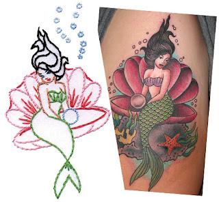 sublime mermaid tattoo art